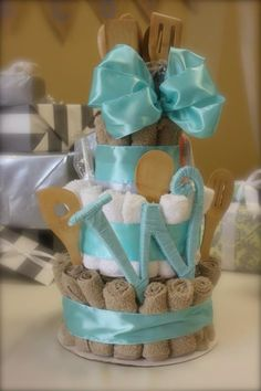 DIY bridal shower gift cake