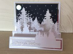 Best 12 Lovely as a tree SU Christmas side step card. Pop Up Christmas Cards, Christmas Pops, Homemade Christmas Cards, Pop Up Cards, Xmas Cards, Handmade Christmas, Holiday Cards, Christmas Crafts, Christmas Side