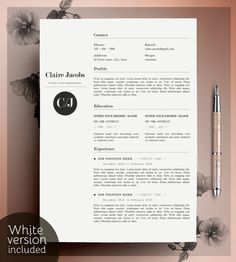 Creative Resume Template, CV Template, Instant Download, Editable in MS Word…