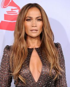Jennifer Lopez showed off her honey brown tresses while attending the Latin Grammy Awards. Her soft highlights were the perfect complement to her bronzed look.