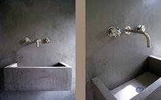 tadelakt plaster walls + sink | by Decor Tadelakt