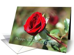 Happy Birthday, Denise, Red Rose card