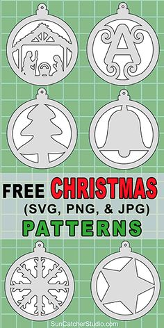 Print Christmas patterns and svg stencils for coloring pages scroll saw patterns laser cutting crafts vinyl cutting screen printing silhouette cricut machines. Christmas Ornament Template, Wooden Christmas Ornaments, Christmas Templates, Christmas Wood, Christmas Patterns, Ornaments Ideas, Christmas Clipart, Christmas Projects, Christmas Cookies