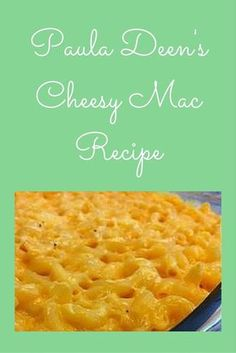 Everybody loves macaroni & cheese and who knows how to make this creamy goodness better than Paula Deen, the South's favorite chef!