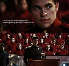"""Star Trek/Wicked crossover. Too funny  ***That is so perfect for them.  I can just hear Spock saying, """"Blond."""""""