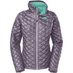 bc2de30fcc Manteau Thermoball pour femme mauve à l'extérieur et turquoise à  l'intérieur de
