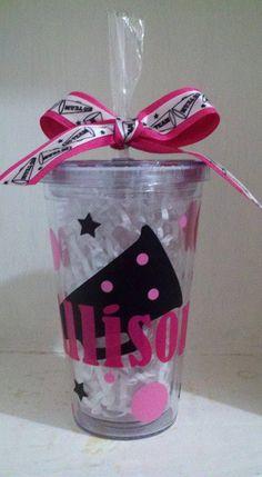 Personalized 16 oz Cheerleader Acrylic BPA by CuteandJazzyDesigns, $10.00
