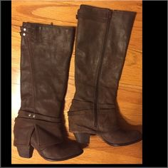 Fergie Brown Boots Fergie Brown Boots. Size 6, comfortable to wear. Great condition. Worn very few times. Super cute with jeans. These are a must have for every closet! Fergie  Shoes Winter & Rain Boots