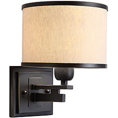 @Overstock - Create a fashionable setting with this stylish sconce. This fixture features the North Miami appearance. Use this special sconce design for indoor lighting in any room. It includes an alluring beige shade outlined in black. This is a one-light sconce.http://www.overstock.com/Home-Garden/North-Miami-1-light-Black-Beige-Wall-Sconce/5207229/product.html?CID=214117 $69.99
