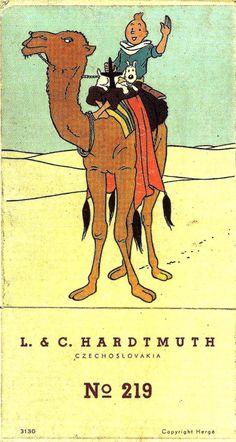 Hergé - 1948 - Illustration for a box of twelve colored pencils