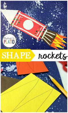 Outer Space Crafts, Space Activities For Kids, Outer Space Theme, Art Activities, Playdough To Plato, Shape Games, Space Facts, Thematic Units, Space Exploration