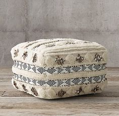 Moroccan Wedding Pouf - Square - Natural