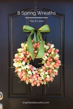 Celebrate the Spring Season! Explore this collection of beautiful Spring Wreaths on Etsy and decorate your front door.