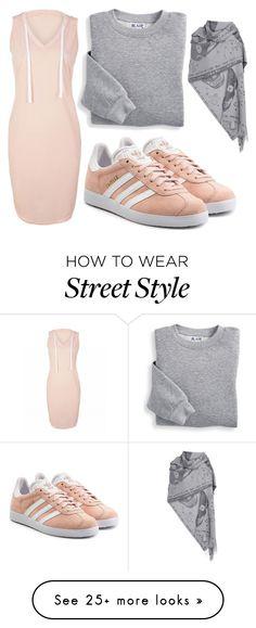 """comfort street"" by faheemak on Polyvore featuring adidas Originals, Blair and Alexander McQueen"