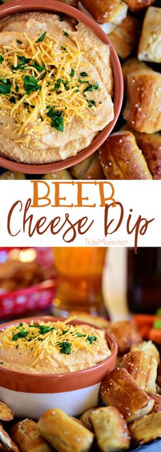 Pub-style Beer Cheese Dip. Serve warm or cold, everyone will love this dip. It's perfect for game day or anytime you need a cheesy snack. Print the full recipe at TidyMom.net