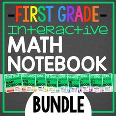 This is the daily Interactive Math Notebook for First Grade BUNDLE of all 9 Units! This BUNDLE contains ALL 9 Units that will take you through an entire year of first grade math notebooking! Notebook Cover Design, Notebook Diy, Notebook Doodles, Notebook Drawing, Notebook Organization, Notebook Covers, Classroom Organization, First Grade Classroom, First Grade Math