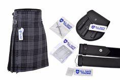 Men Scottish 6 Piece Casual Kilt Outfit with Sporran, Dress Gordon Tartan Kilt Scottish Clothing, Scottish Kilts, Scottish Clans, Scottish Thistle, Pride Of Scotland Tartan, Douglas Tartan, Wallace Tartan, Macdonald Tartan, Kilts For Sale