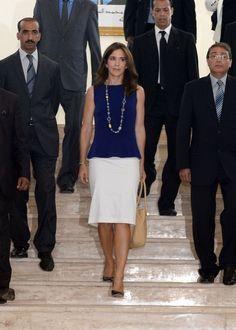 La princesa Mary de Dinamarca en su visita a Marruecos el 3 de septiembre de 2013.