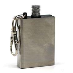 Survival Bottle With Flint Fire Starter