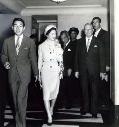 The then Crown Prince Akihito and Princess Michiko of Japan visit the Waldorf Towers, September 30, 1960
