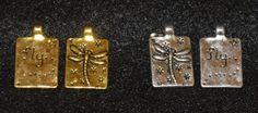 Qty 10 Dragon fly FLY rectangle Charm Pendant by SoRRoGlass $3.00 #DIY #SoRRoGlass #JewelryMaking