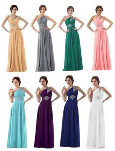 FairOnly One Shoulder Crystal Bridesmaids Evening Dress Formal Prom Dress #FairOnly #OneShoulder #Formal