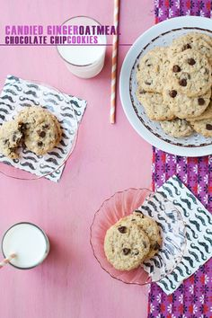 Candied Ginger Oatmeal Chocolate Chip Cookies