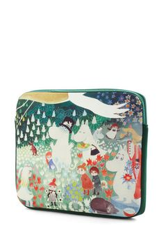 Moomin and Shaking Tablet Case by Disaster Designs - Green, Multi, Print with Animals, Travel, International Designer, Quirky
