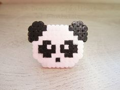 Bijou bague Panda kawaii animal perle hama bead par DoucesCreations