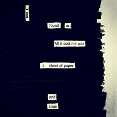 The Next Big Thing: Blackout Poetry