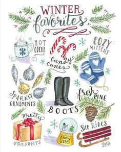 Lily and Val Winter Favourites Christmas Card, discover more festive Christmas Cards and Lily and Val at Lilly and Thorn UK. Christmas Crafts, Christmas Decorations, Christmas Artwork, Modern Christmas, Christmas Print, Christmas Holiday, Holiday Decor, Christmas Canvas, Lily And Val