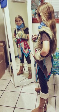 My daughter wanted to be Aloy from Horizon for Halloween. It took us about 10 hours and a bunch of scraps to put this together. She is super happy with it! hope y'all like it