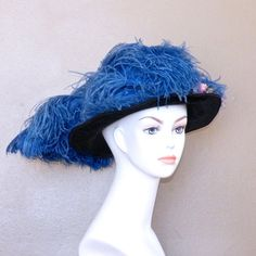 Downton Abbey Antique Edwardian Ostrich Plume Straw Hat by Marshall Field & Co Paris Chicago via daisyandstella, $195.00  https://www.etsy.com/listing/179350329/downton-abbey-edwardian-hat-antique