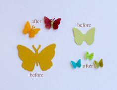 Shrinky Dink butterflies
