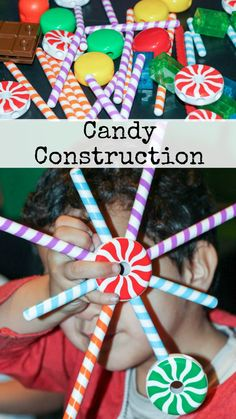 fun things to build with the Candy Construction toy from Learning Resources, a great construction toy to play and learn Winter Activities For Kids, Science Activities For Kids, Christmas Activities, Preschool Education, Learning Tools, Kids Learning, Cake Decorating For Kids, Art For Kids, Crafts For Kids