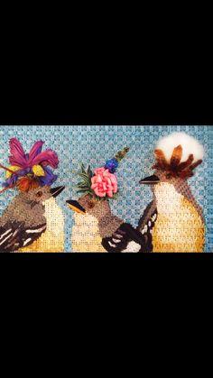 Vicki Sawyer birds needlepoint, canvas from Melissa Shirley