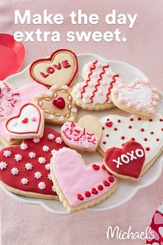 Valentines Baking, Valentines Day Cookies, Valentines Day Desserts, Valentine Treats, Valentines Diy, Galletas Cookies, Cute Cookies, Valentine's Day Sugar Cookies, Holiday Dinner