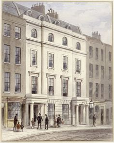 Old Bow Street Police Station. A watercolour by T.H. Shepherd of Old Bow Street Police Station, St Giles. Two policemen in uniform stand out...