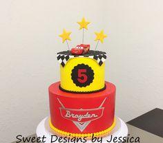 Cars themed bday cake