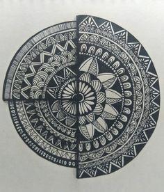 Mandala Art Therapy, Mandala Art Lesson, Mandala Artwork, Easy Mandala Drawing, Doodle Art Drawing, Art Painting Gallery, Dot Art Painting, Art Drawings Beautiful, Art Drawings Sketches Simple