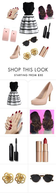 """""""el estilo de mi madre"""" by albalauradaniel ❤ liked on Polyvore featuring Chicwish, Limited Edition, Bobbi Brown Cosmetics, Charlotte Tilbury and Christian Dior"""