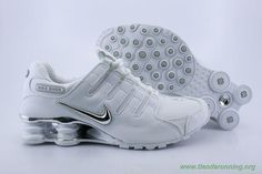 the best attitude 94eaf e6911 Nike Shox NZ Blanco Plata NZ-005 Hombre-Mujeres tienda zapatillas running