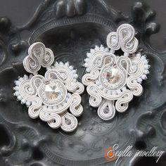 Kolczyki Princessa - Biżuteria ślubna - Biżuteria srebrna