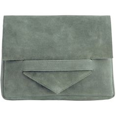 PIECES Suede Oversize Clutch ($30) ❤ liked on Polyvore featuring bags, handbags, clutches, accessories, light olive, suede leather handbags, suede purse, suede handbags, green handbags and green clutches