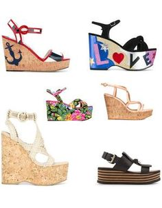20 sandales compensées pour prendre l'été de haut Wedges, Shoes, Fashion, Wedge Sandals, Penny Loafer, Trending Fashion, Heels, Top, Moda