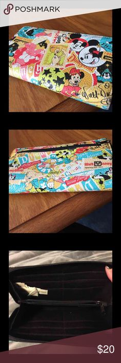 Disney long wallet GUC. No flaws.  Approx   8x3.5 inches Disney Bags Wallets