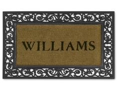 "Personalized Rubber Scroll & Coir Doormat, 22"" x 36"""