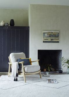 We've loafed up this old-school rattan armchair with our signature squish. Just add slippers, a snifter and a snoring Labrador for the full, mid-century effect. Rattan Armchair, School Chairs, Comfy Sofa, Modern Country, Occasional Chairs, First Home, Decoration, Home Furnishings, Home Office