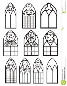 Gothic Windows, Church Windows, Castle Window, Motif Art Deco, Gothic Architecture, Stained Glass Patterns, Gothic Art, Stained Glass Windows, Window Glass
