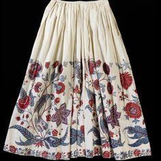 18th century petticoat, hand painted, Coromandel Coast, India